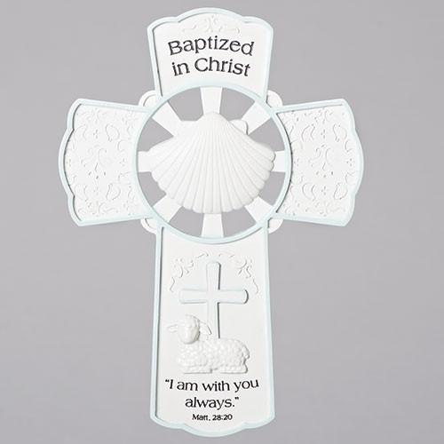 "8"" Baptism Wall Cross - Boy"