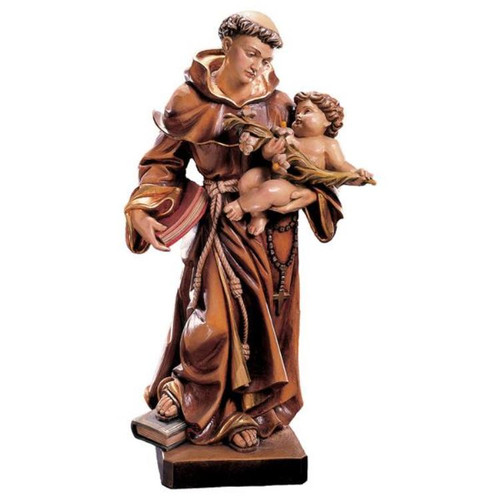 Baroque St. Anthony of Padua Statue | Hand Carved In Italy | Multiple Sizes