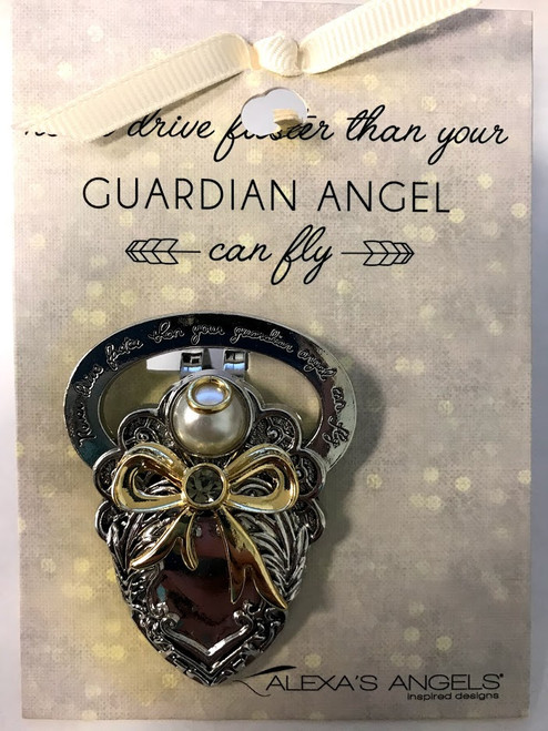 Alexa's Angels Two-Tone Guardian Angel Visor Clip | Style 1
