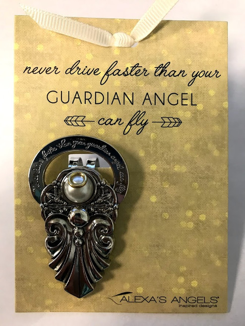Alexa's Angels Two-Tone Guardian Angel Visor Clip | Style 2