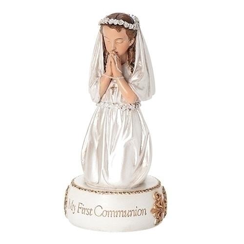"5.5"" First Communion Girl Figure/Caketopper"