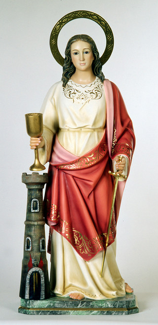 "24"" St Barbara with Sword Statue 