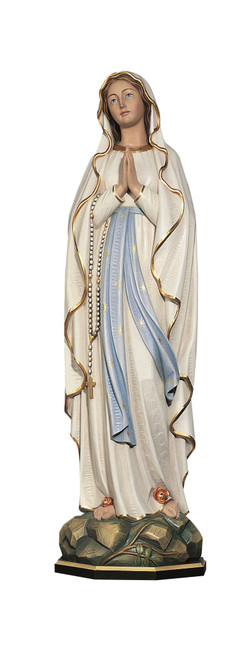 #753/L Our Lady of Lourdes Statue | Handmade In Italy