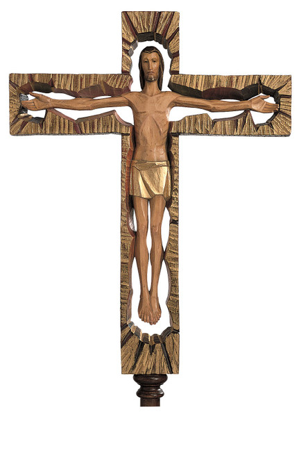 #4009 Litart Processional Crucifix | Handmade In Italy
