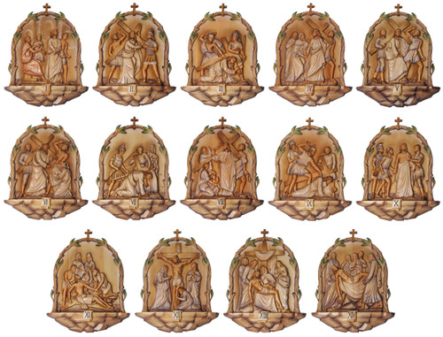 "#K788 Baroque Style Stations Of The Cross | 26"" x 20.5"" 