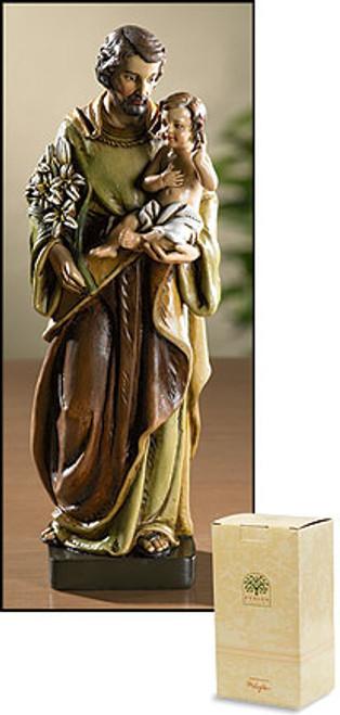 "8"" St. Joseph with Child Statue | Resin"