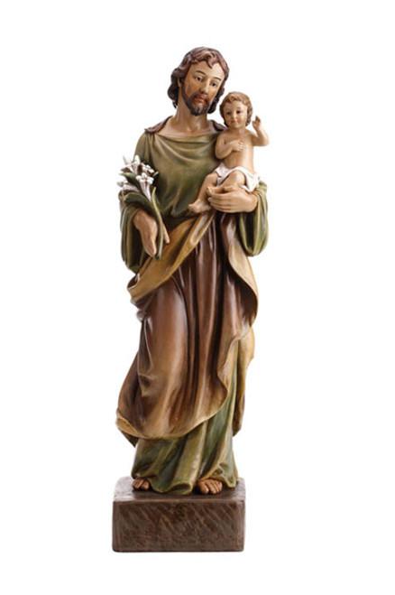 "22"" St. Joseph with Child Statue | Resin"