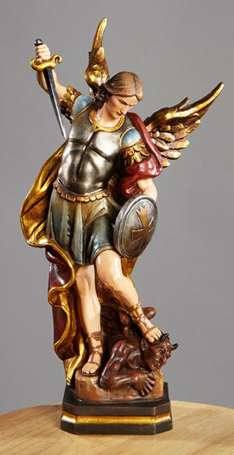 "12"" St. Michael Statue 