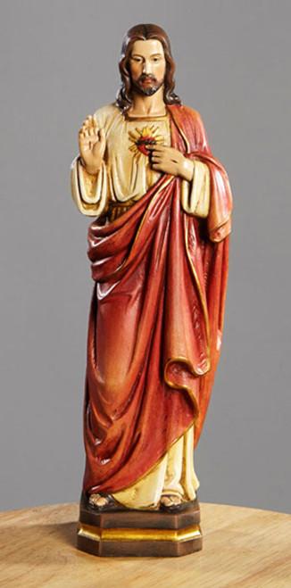 "12"" Sacred Heart Of Jesus Statue   Resin"