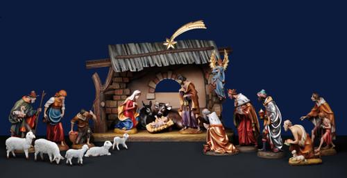 "#1950 ""Demetz"" Nativity Set | Handmade In Italy"
