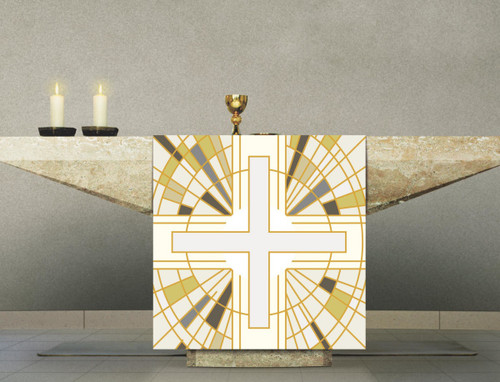 #7505 White Cross Altar Cover