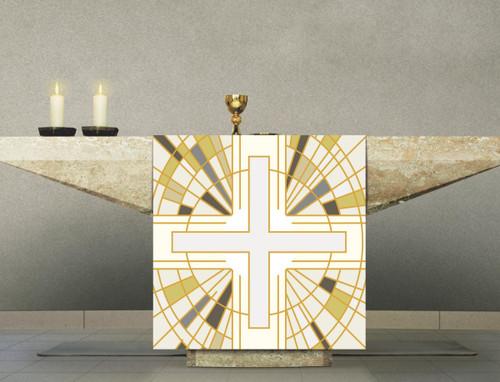 #7505 White Cross Altar Cover