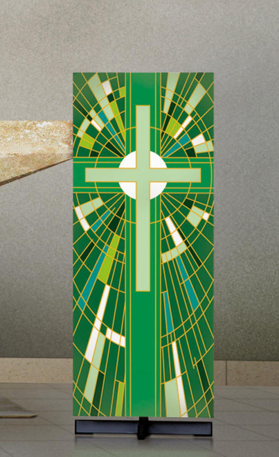 #7507 Green Cross Lectern Cover