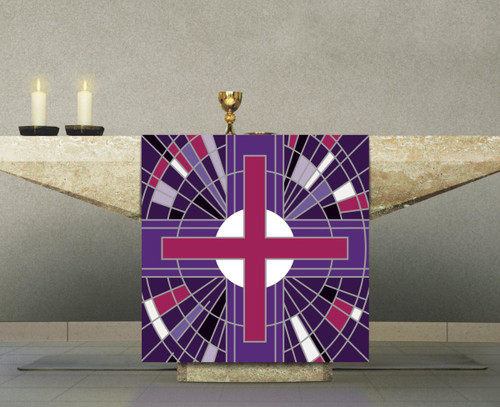 #7508 Purple Cross Altar Cover