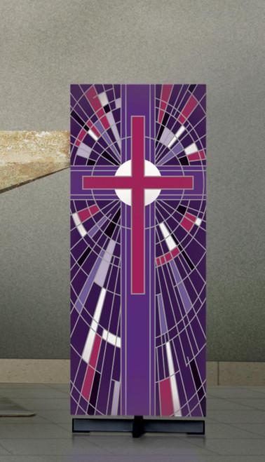 #7508 Purple Cross Lectern Cover