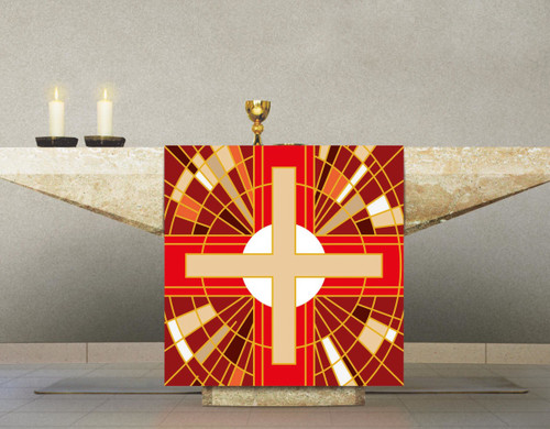 #7506 Red Cross Altar Cover