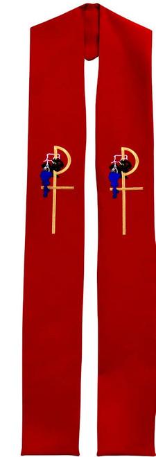 #710 Tau Rho Cross Deacon Stole   All Colors