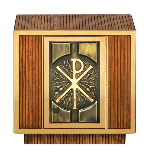 #7126 Chi Rho Tabernacle | Oak Wood