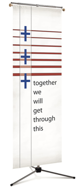 #7519 Patriotic Cross Banner | 3' x 10'