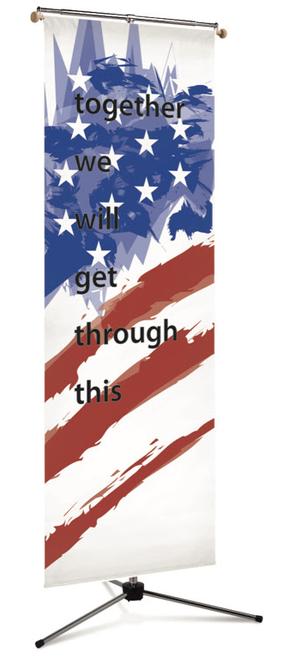 #7520 Patriotic Flag Banner   3' x 10'