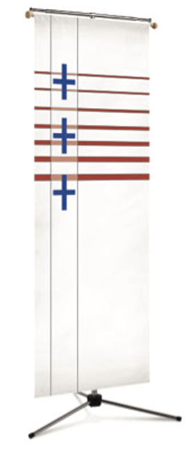 #7521 Plain Patriotic Cross Banner | 3' x 10'