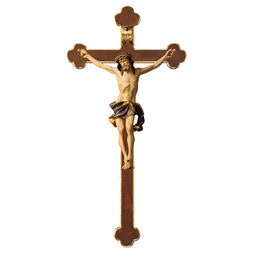 Full Color Nazarean Baroque Crucifix | Hand Carved in Italy | Multiple Sizes