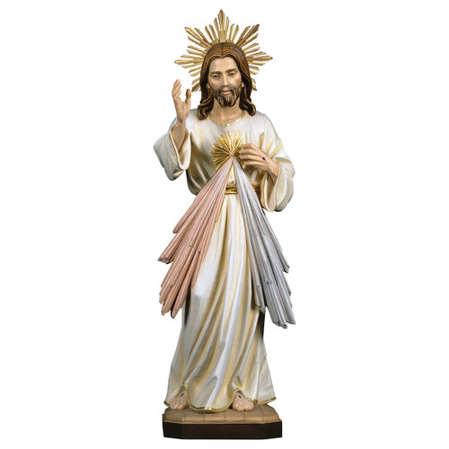 Divine Mercy with Halo Statue | Hand Carved in Italy | Multiple Sizes