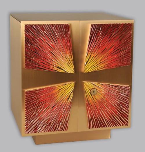 #26TAB32 Cast Bronze & Enamel Tabernacle | Bronze