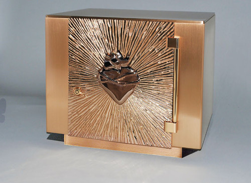 #21TAB65 Sacred Heart Tabernacle | Bronze
