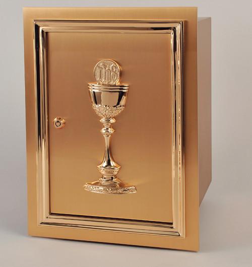 #71TAB62 Eucharist Wall Tabernacle | Bronze