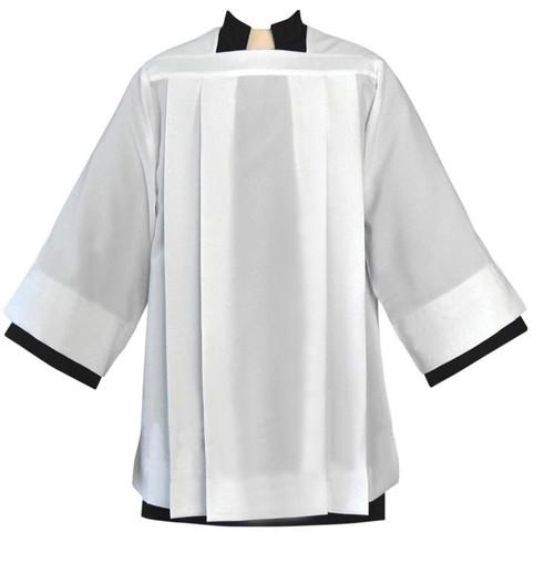 #4884 Plain Pleated Surplice | Smooth Silky Poplin Polyester