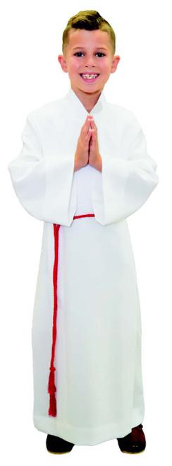 #557 Altar Server Front Wrap Cassock Alb | 100% Poly/Linen