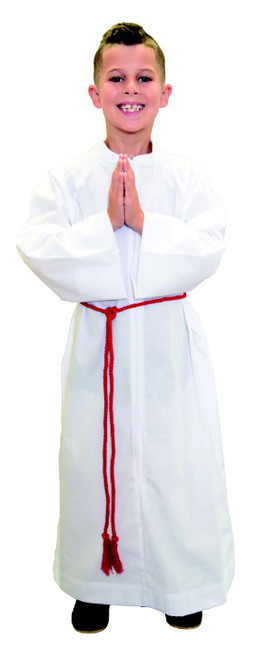 #556 Altar Server Alb with Capuche/Hood | Lightweight Poly/Cotton | All Sizes