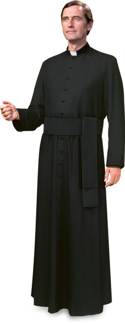 Fully Custom Black Cassock in Poly/Viscose | Handmade In Belgium | Enter Dimensions