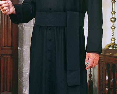 Black Cassock Cincture | Poly/Viscose | Handmade In Belgium