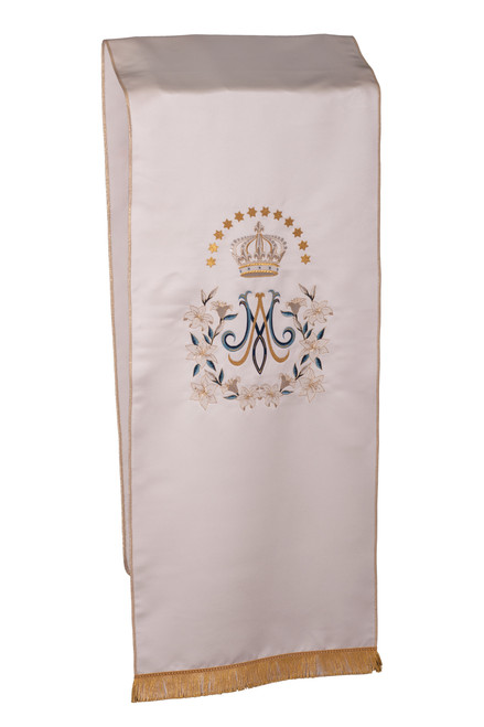 #7785 Embroidered Marian Floral Lectern Cover | 100% Satin Poly