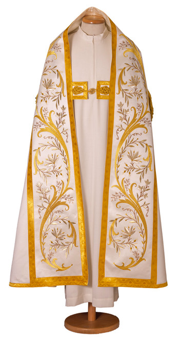 #4006 Ornate Gold Embroidered Cope | Wool/Silk | All Colors