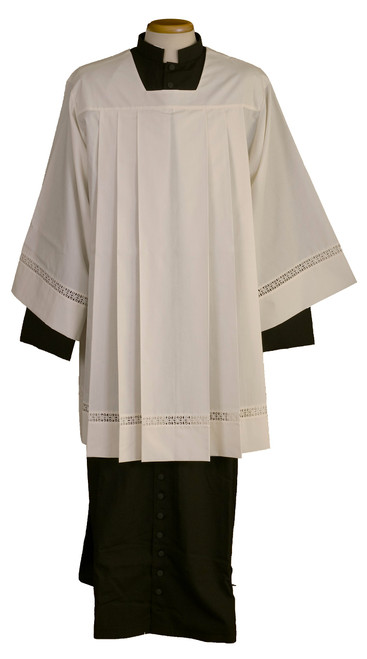 #3698 Thin Lace Banded Surplice | Wool/Poly