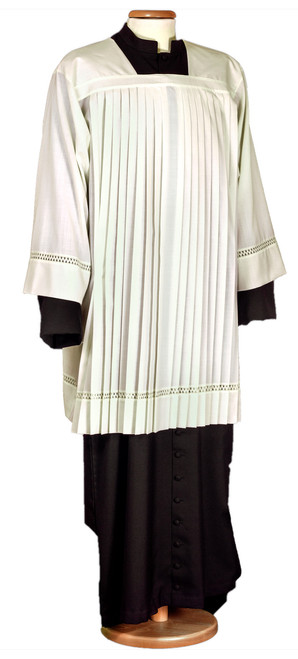 #0044 Pleated Surplice | Wool/Poly