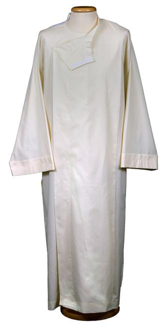 #0080 Plain Front Wrap Alb | Velcro | Poly/Cotton