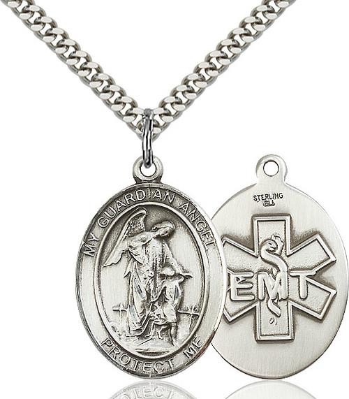 Guardian Angel EMT Sterling Silver Pendant