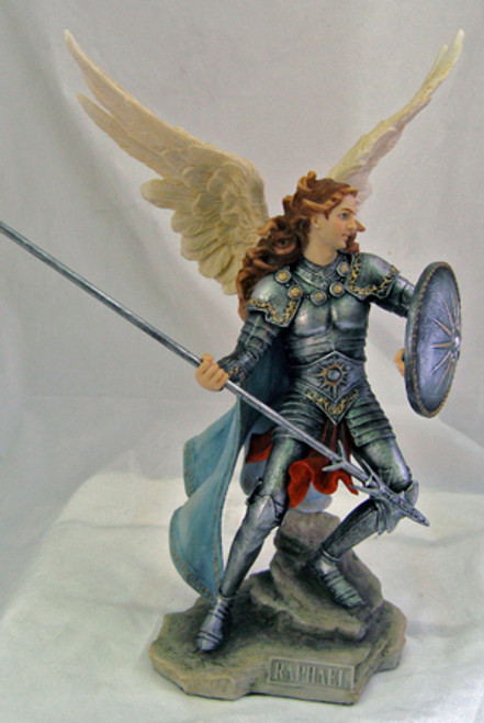 "13.5"" Archangel Raphael Statue 
