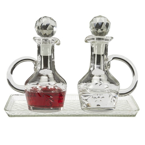 Cruet Set with Tray | Glass