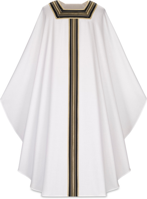 #5144 Elegant Embroidered Galloon Gothic Chasuble | Stand Up Collar | Poly/Viscose | All Colors