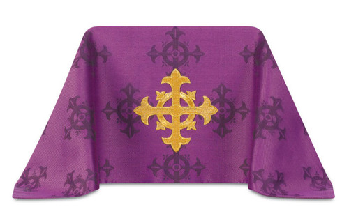 #3978 Embroidered Cross Chalice Veil | 100% Polyester Damask | All Colors