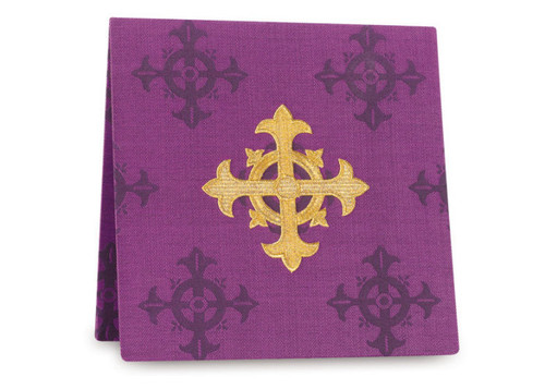 #3978 Embroidered Cross Burse | 100% Polyester Damask | All Colors