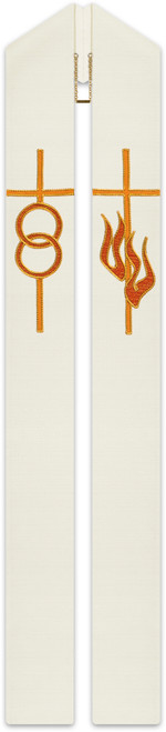 #3802 Weddings Embroidered Overlay Stole | Poly/Cotton/Viscose