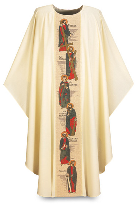 "#3359 ""Twelve Apostles"" Embroidered Gothic Chasuble 