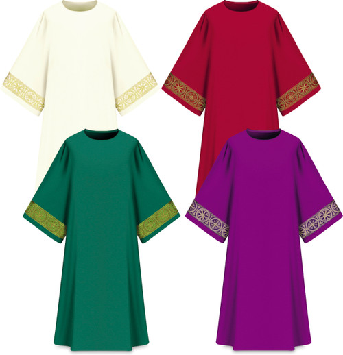Assisi Dalmatic with Woven Orphrey | 100% Polyester | All Colors