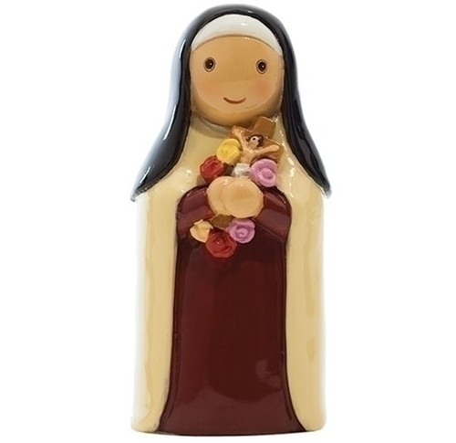 """3"""" St. Therese Little Drop Statue   Resin"""